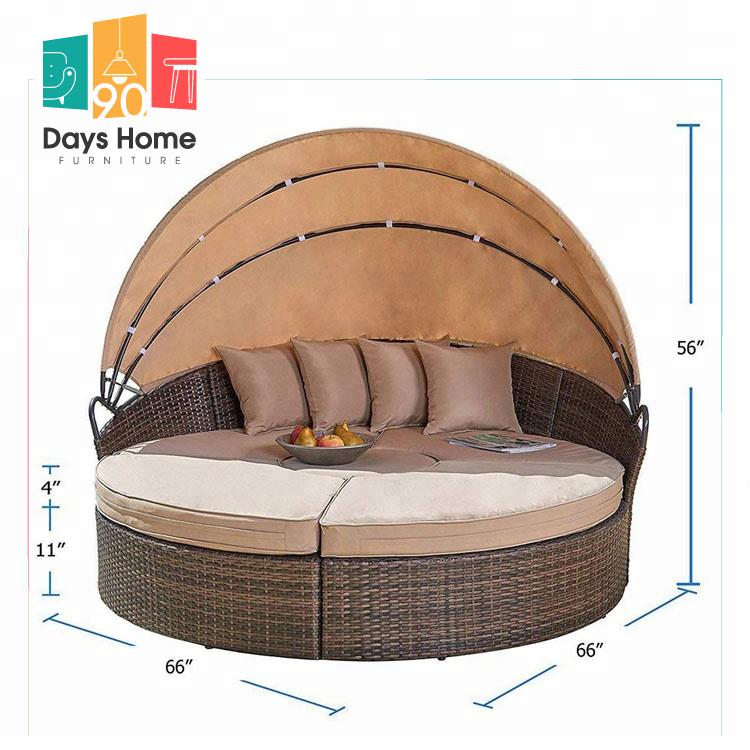 sunbed round lounger waterproof beach chair garden sets