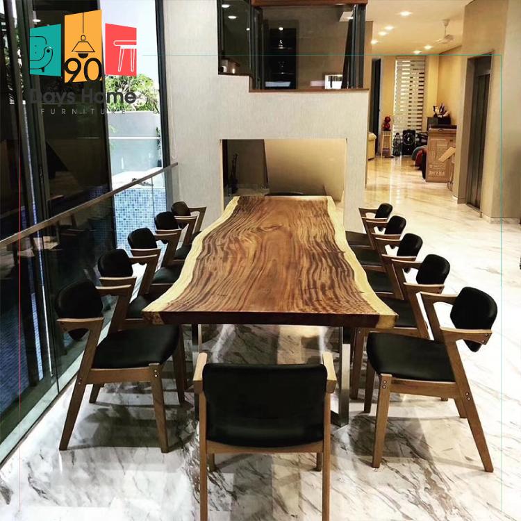 طاولات طعام الخشب الصلب