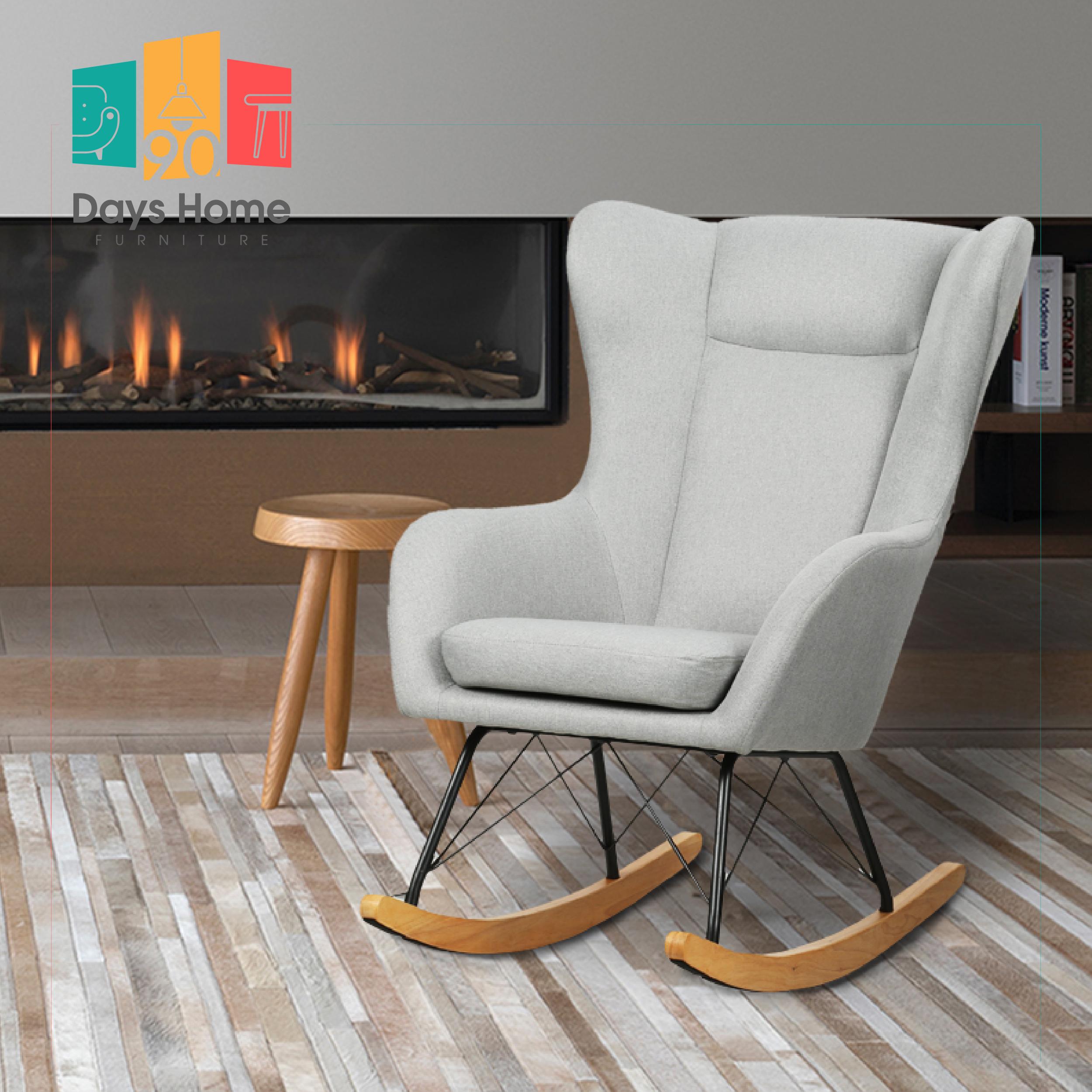 كرسي متأرجح خشبي
