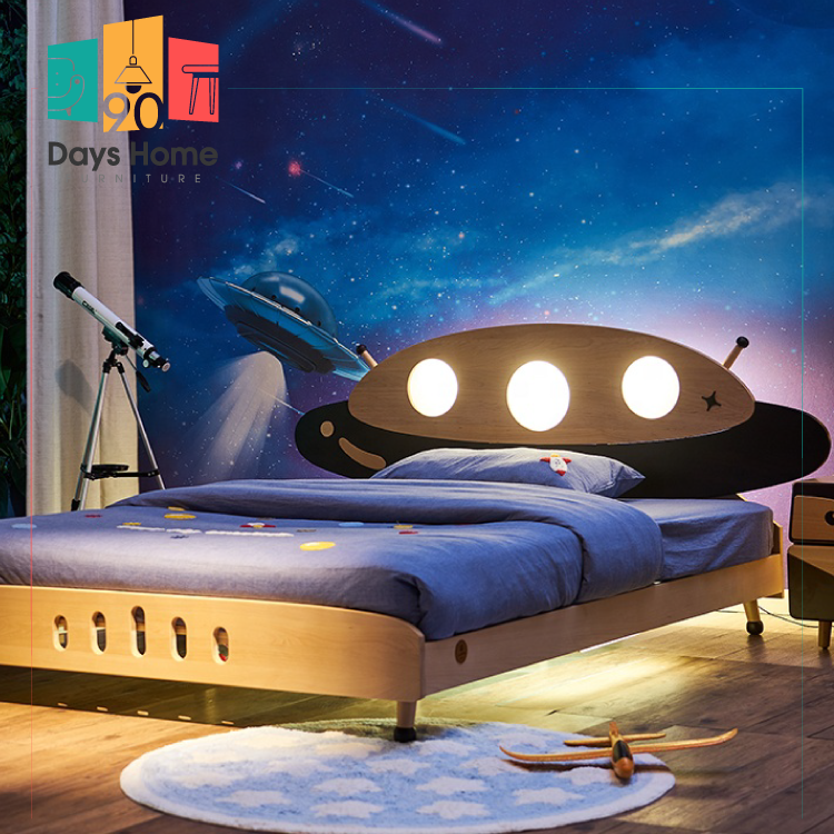 غرفة نوم للأطفال  بإضاءة ليد