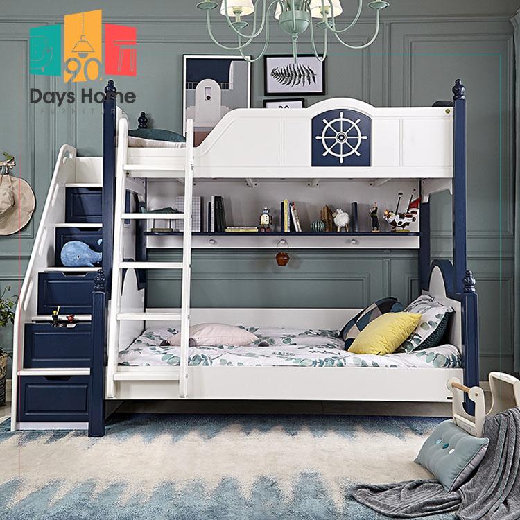 غرفة نوم للأطفال   سرير بطابقين مع طاولة
