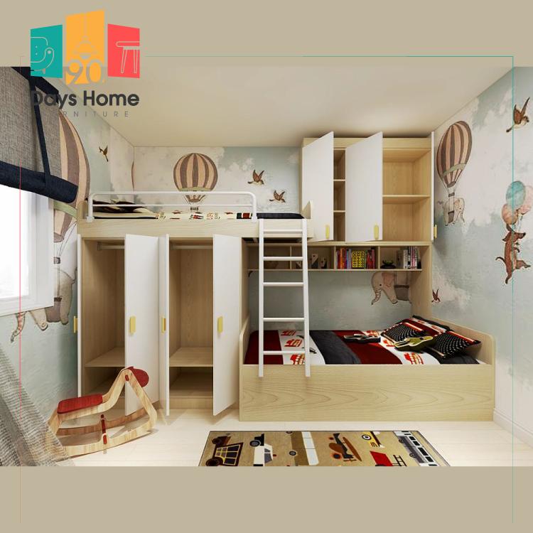 غرفة نوم للأطفال  مع خزانة ملابس