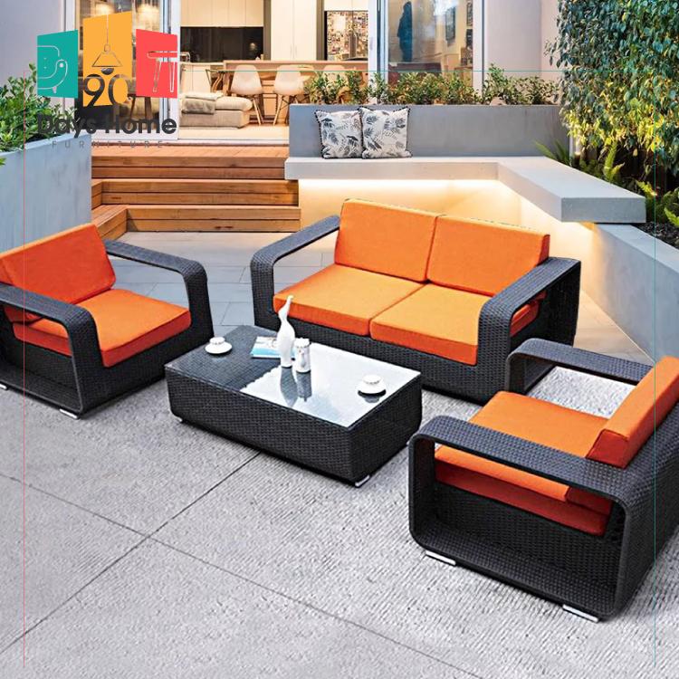 Outdoor furniture rattan garden sofa