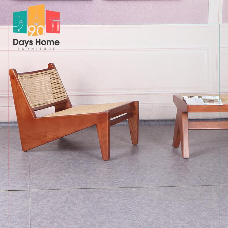 Recliner chair made of natural rattan kangaroo