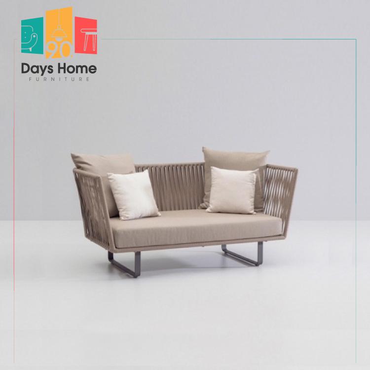 Modern  Aluminium Garden Woven Rope Furniture set