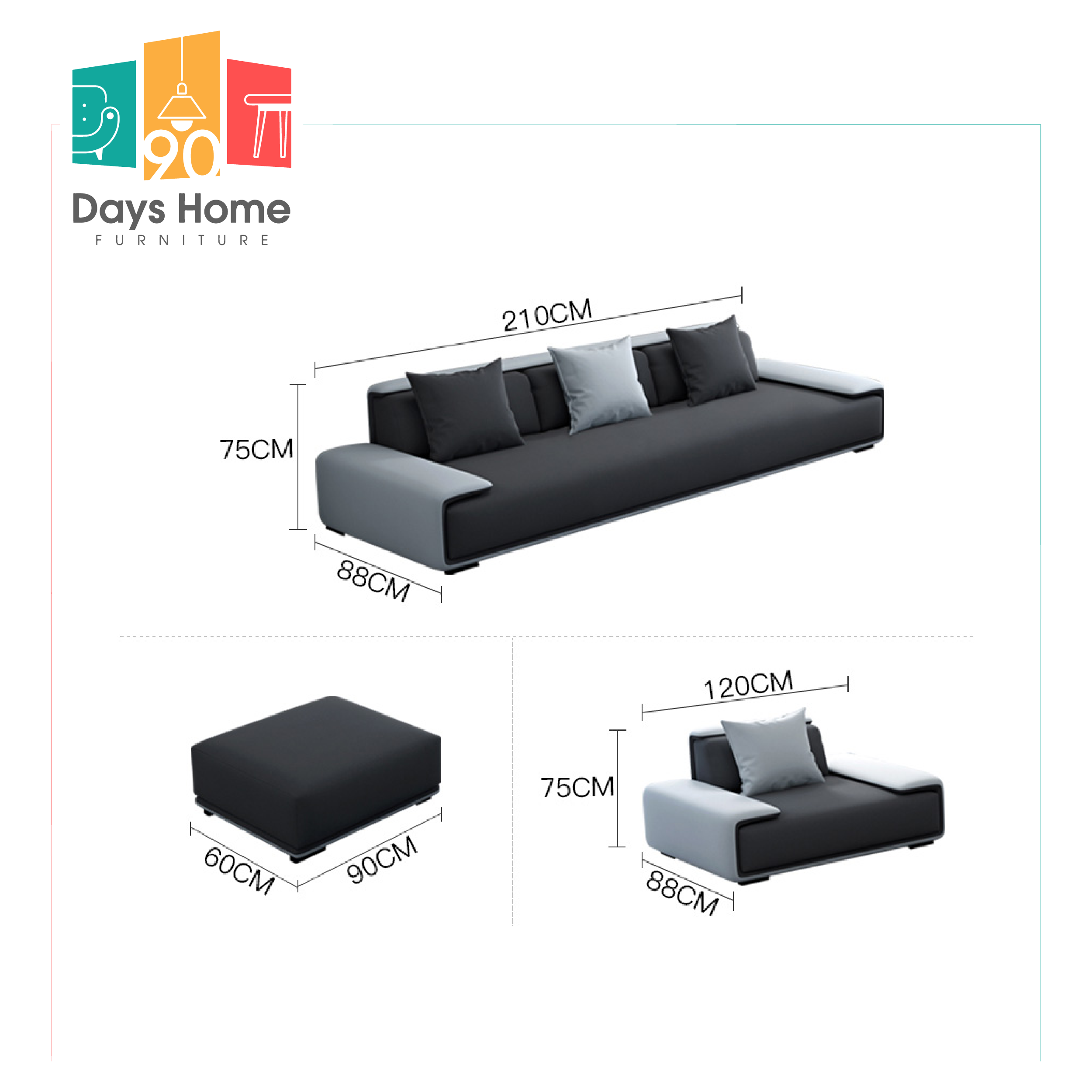 أريكة لغرفة المعيشة